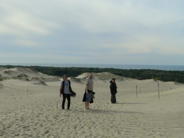 Guests enjoying their hike through the Dead Dunes