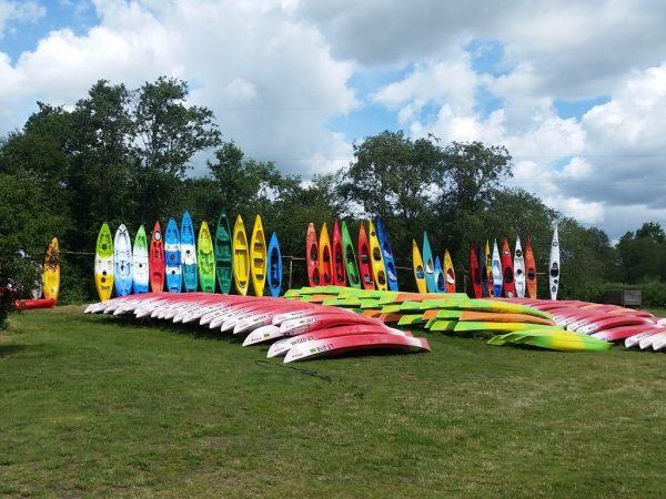 Kayaks ready for a tour