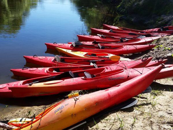 Kayaking on Minija River