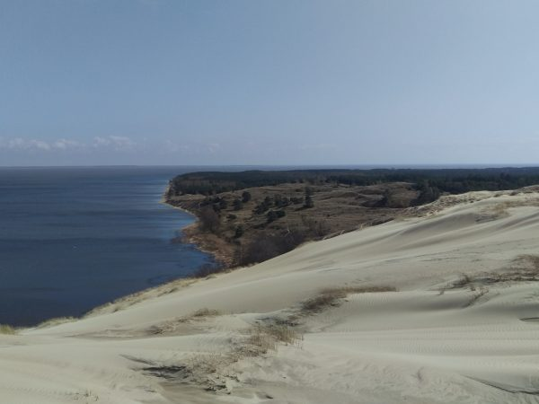 View of the Curonian lagoon from the top of the Dunes
