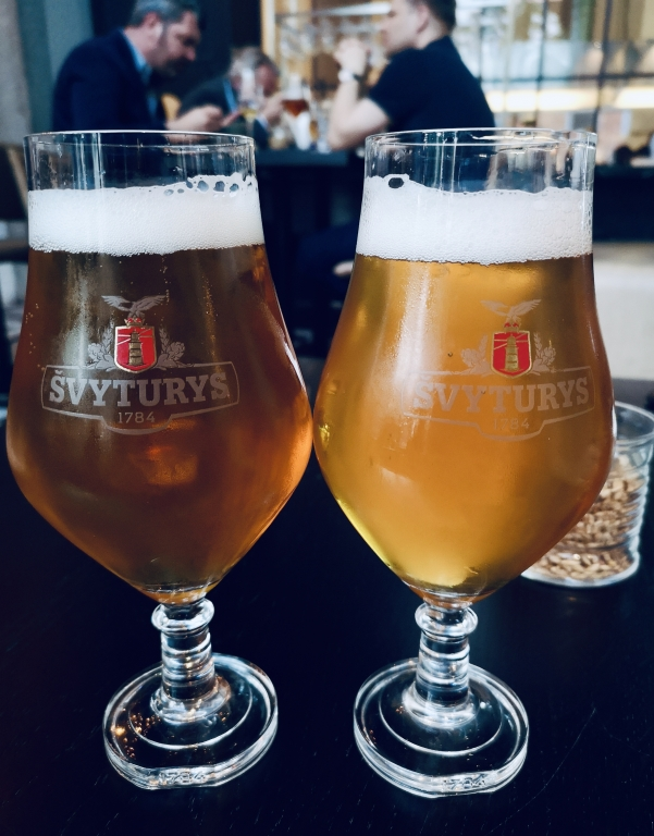 Beer tasting of Svyturys beer