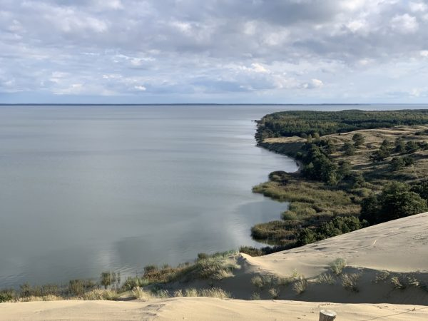 View of the Curonian lagoon from the dunes