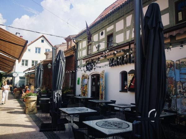 Lovely courtyard for refreshment break in Klaipeda Old town