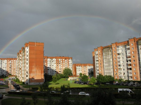 Residential buildings built during the Soviet times