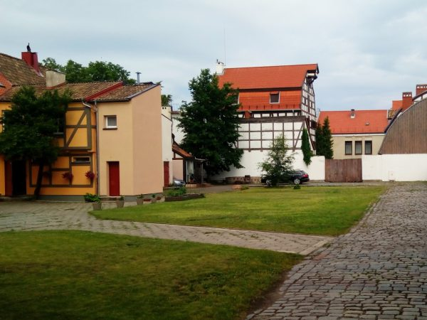 Klaipeda Old Town is famous for fachwerk architecture