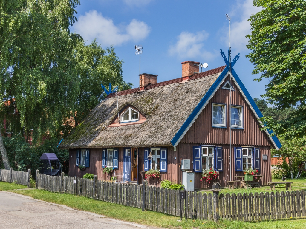 Curonian Spit National park, fisherman house in Nida